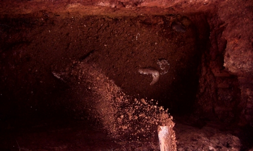 Video still 2 from 'Challenging Mud' (2008) by Johan Thom to be exhibited as part of the exhibition