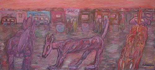 David Koloane Three dogs (2002)